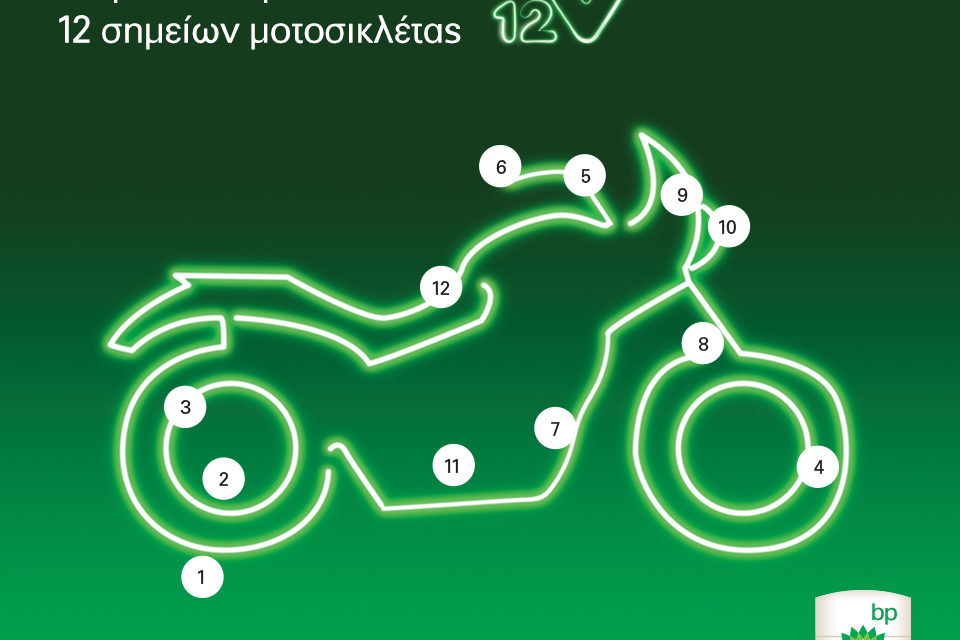 Δωρεάν έλεγχο 12 σημείων μοτοσυκλέτας